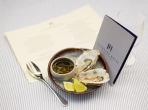 oysters and menu food photography by creative food photographer london frozenmusic photography