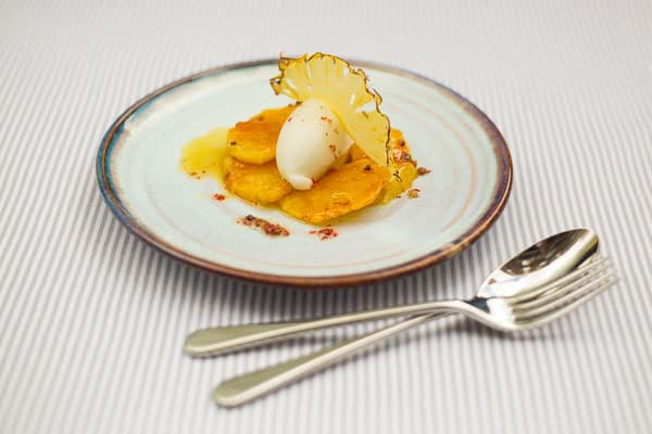 creative food photography by london food photographer frozenmusic photography of dessert with cutlery