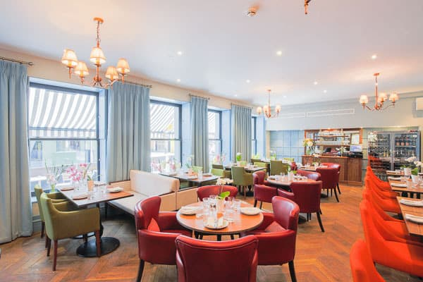 interior photography shot by london interior photographer of restaurant at leicester house hotel in central london